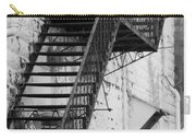 Black And White Fire Escape Usa Near Infrared Carry-all Pouch