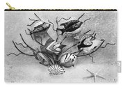 Black And White Fish 1  Carry-all Pouch