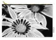 Black And White Florals Carry-all Pouch