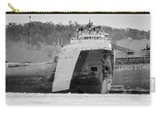 Black And White Freighter Carry-all Pouch
