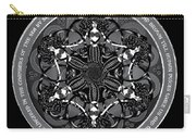 Black And White Gothic Celtic Mermaids Carry-all Pouch