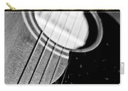Black And White Harmony Guitar Carry-all Pouch