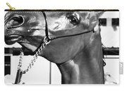 Black And White Horse Head Carry-all Pouch