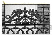 Black And White Ironwork Carry-all Pouch by Alys Caviness-Gober