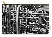 Black And White Jet Engine Carry-all Pouch by Dan Sproul