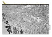 Black And White Lake Tahoe California Covered In Snow During The Winter Carry-all Pouch