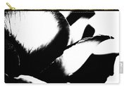 Black And White Layers Of A Rose  Carry-all Pouch