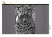 Black And White Leopard Portrait  Carry-all Pouch