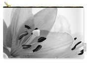 Black And White Lilies Carry-all Pouch