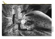 Black And White Lily Up Close Carry-all Pouch
