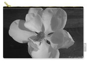 Black And White Magnolia Blossom Carry-all Pouch
