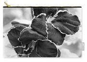 Black And White Maui Flowers Carry-all Pouch