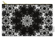 Black And White Medallion 1 Carry-all Pouch