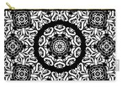 Black And White Medallion 10 Carry-all Pouch