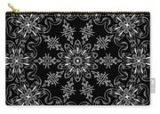 Black And White Medallion 11 Carry-all Pouch