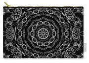 Black And White Medallion 2 Carry-all Pouch