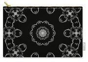 Black And White Medallion 3 Carry-all Pouch