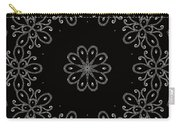 Black And White Medallion 4 Carry-all Pouch