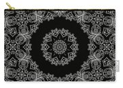Black And White Medallion 6 Carry-all Pouch