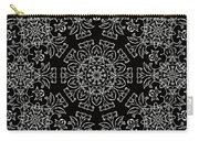 Black And White Medallion 7 Carry-all Pouch