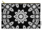 Black And White Medallion 8 Carry-all Pouch