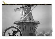 Black And White No Tilting At Windmills Carry-all Pouch