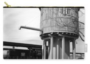 Black And White Of A Water Tower Carry-all Pouch
