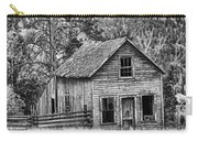 Black And White Old Merritt Farmhouse Carry-all Pouch