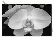 Black And White Orchid With Lights - Square Carry-all Pouch