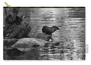 Black And White Otters In The Wild Carry-all Pouch