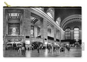 Black And White Pano Of Grand Central Station - Nyc Carry-all Pouch by David Smith