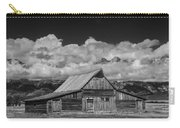 Black And White Photo Of The T.a. Moulton Barn In The Grand Tetons Carry-all Pouch
