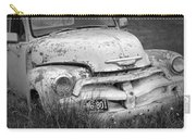 Black And White Photograph A Vintage Junk Chevy Pickup Truck Carry-all Pouch