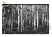 Black And White Photograph Of Birch Trees No. 0126 Carry-all Pouch