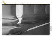 Black And White Pillars Carry-all Pouch