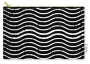 Black And White Postage Carry-all Pouch