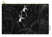 Black And White Quad Ghost Orchid Carry-all Pouch