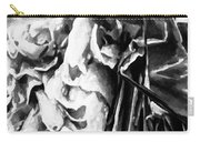 Black And White Ruffles Carry-all Pouch