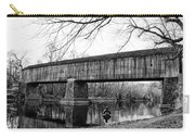 Black And White Schofield Ford Covered Bridge Carry-all Pouch