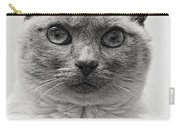 Black And White Siamese Cat Carry-all Pouch