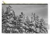 Black And White Snow Covered Trees Carry-all Pouch