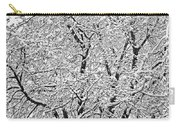 Black And White Snowy Tree Branches Abstract Six Carry-all Pouch