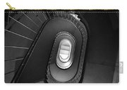 Black And White Spiral Staircaise Carry-all Pouch