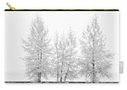 Black And White Square Diptych Tree 12-7693 Set 1 Of 2 Carry-all Pouch