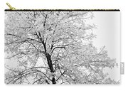 Black And White Square Tree  Carry-all Pouch