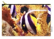 Black And White Striped Angelfish Carry-all Pouch
