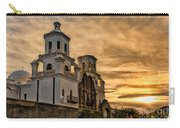 Black And White Sunrise Over Mission Carry-all Pouch