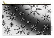 Black And White Suns Carry-all Pouch