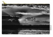 Black And White Sunset Over The Mead Wildlife Area Carry-all Pouch