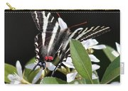 Black And White Swallowtail Square Carry-all Pouch